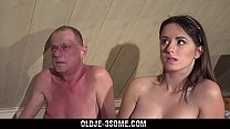 2 Virgins Ju mp on Grandpa Cock And fucks His Brains Out in Threesome Sex