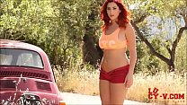 Screenshot Hot Redhead  stripteases with My Way