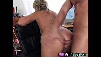Blonde Matur e Boss Anal Fuck With Applicant