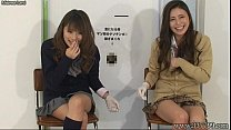 Japanese fem dom give handjob and cunnilingus to slave for cash