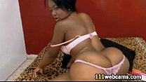 Black girl s hakes her huge fat ass on webcam