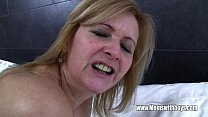 Young Stud F ucks His Mature Maid Catching Him With Porn