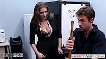 Stockinged c utie Alex Chance nailed in the office