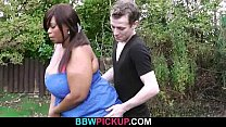 Fat black ho ttie is pounded by a golf coach