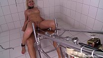 Submissive L ucy Heart chained and fucked hard by machine