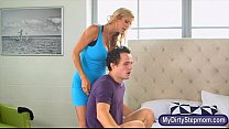 Alexis Fawx  and Lilith Shayton threesome in the bedroom