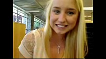 Blond girl s quirts in public school   more videos of her on freakygirlcams co uk