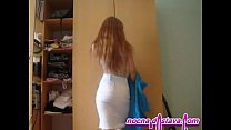 Redhead in h ome made action