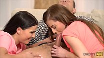 DADDY4K  Mom 's two daughters getting naughty in her property