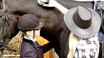 Aneta and My a go down on each other at the horse ranch by Sapphic Erotica