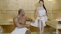 RELAXXXED    Hard fuck at the sauna with attractive Russian babe Angel Rush