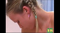 Pigtails Tee n Blonde Gets Fucked
