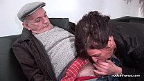 Amateur matu re hard DP and facialized in 3way with Papy Voyeur