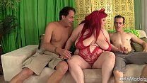 Screenshot Fatty Eliza  Allure takes 2 dicks in her pussy