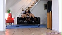 Screenshot Pussylicking  brit mature doggystyled in trio