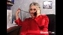 Huge Tits BB W Granny In Stockings Fucks A Young Guy