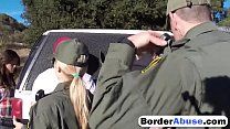 Screenshot Lucky guy fu cks two amazing teens at the border