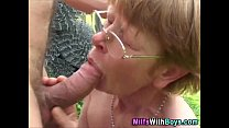 Granny In Gl asses Outdoor Farm Fucking