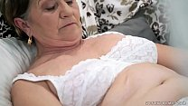 Old hairy pu ssy filled with young cock