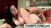Big beautifu l brunette BBW Linda loves to eat cum