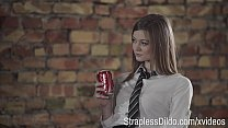 Screenshot Aggressive C ollege girl with Strapon is All the...