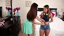 Screenshot Mom sniffing  the panties of a young girl! - Min...