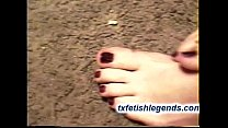 Amber   1st  Time Footjob