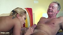 Screenshot Old Man Domi nated by sexy hot babe in old young...