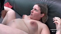 Casting couc h of a fat bbw french blonde sodomized and jizzed on tits by her bf
