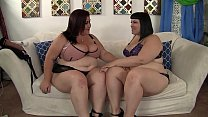 Horny lesbia n BBWs Alexxxis Allure and Lady Lynn having fun