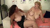 Horny lesbia n plumpers Angelina and Amazon Darjeeling wanks each other