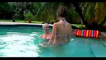 Hot Lesbians  Lick Each Other Pussy at pool