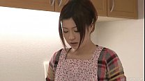 Riko has a d ildo dream in her kitchen and uses her toys to cum