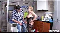 Mature germa n whore gets titty fucked