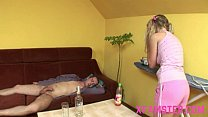 Screenshot Horny young  petite amateur stepsister taking st...