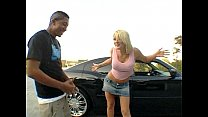 The blonde S taci Thorn in a interracial action