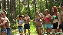 College orgy teens anal outdoor cumfest party