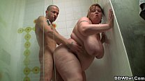 Big booty fa tty screwed in the shower