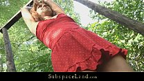 Screenshot Young teen s lave driven in the forest for bonda...