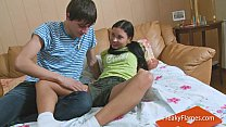 Screenshot Young tiny s tepsister blowjob for fat cock so s...