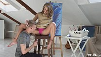 Screenshot Lovely blond  muse Sofi anally fucked by an artist