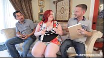 Sexy BBW Ell za Allure Gets DP'ed by 2 Huge Cocks