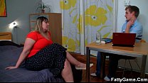 Fatty seduce s the young man with ease