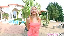 Perky smile  blondie Zazie with perfect tits masturbating on Give Me Pink