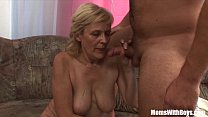Screenshot Blonde Old M ama In Stockings Shaved Pussy Fucked