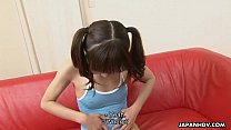 Petite and a dorable Asian teen getting face spunked
