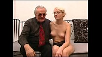 Old pig intr oduce a mature blonde who's about to get fucked