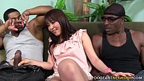 Screenshot Marica Hase  squirts while DP'd by Black Cocks