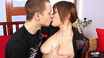 Super horny  step sister drains her step brothers balls