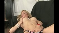 Screenshot Goodly blond e masturbating pussy and getting na...